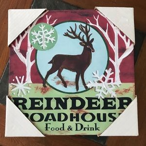 Wall Hanging picture Reindeer Roadhouse